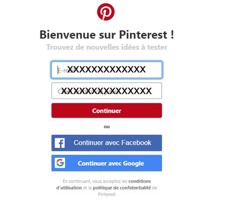 Pinterest sans compte