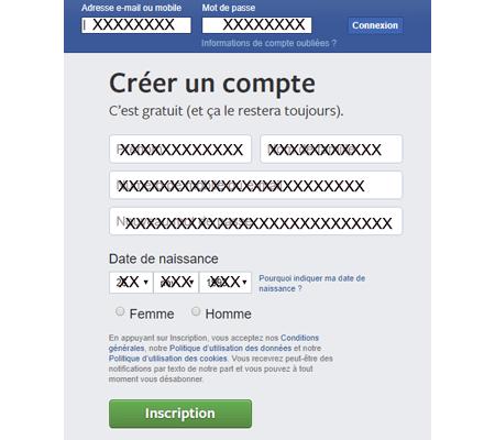 Créer un nouveau compte Facebook gratuit