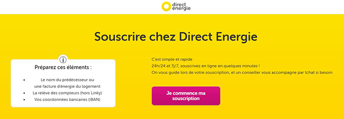 contrat direct energie en ligne