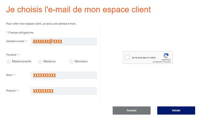 creation espace client particulier edf