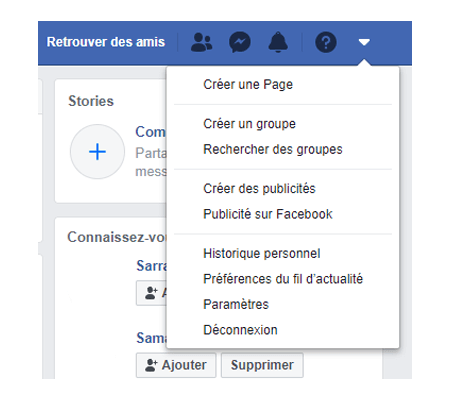 Facebook inscription et connection