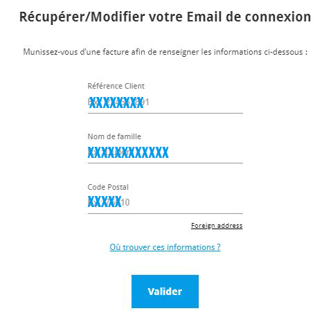 recuperation email engie particulier