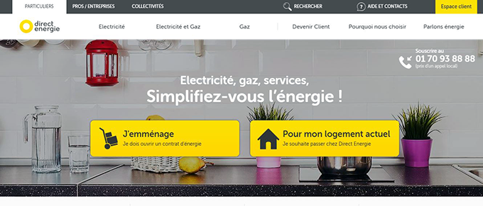 souscription en ligne direct energie
