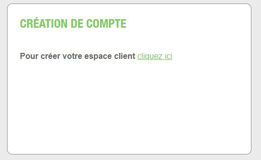 creer compte client particulier total spring