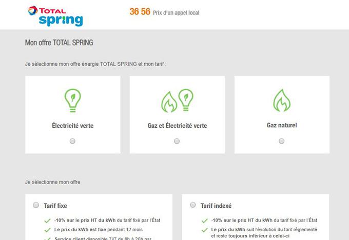 souscription en ligne total spring