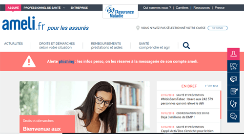 www.ameli.fr créer mon compte