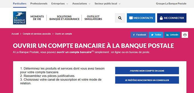 Identification Banque Postale Acces Espace Personnel Particulier En
