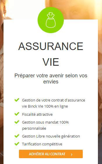 comment adhérer à un contrat assurance vie binck.fr