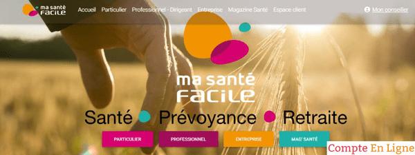 accès compte personnel sur le site www.masantefacile.com
