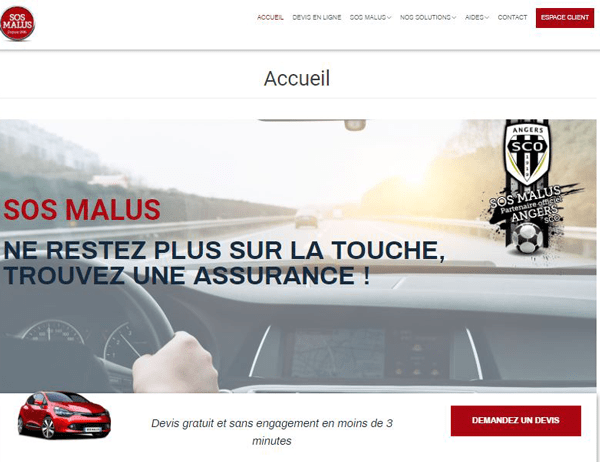 www.sosmalus.eu: site assurance auto
