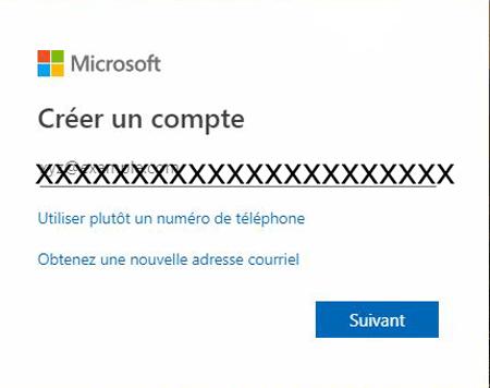 créer un compte Microsoft gratuit