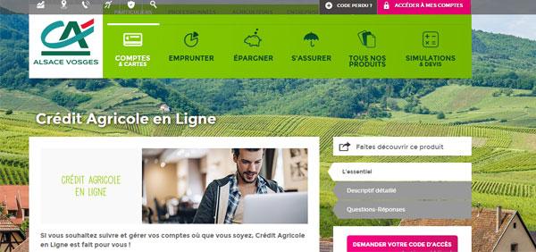 Crédit agricole alsace vosges strasbourg en ligne