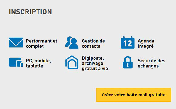 comment creer une adresse email laposte.net?