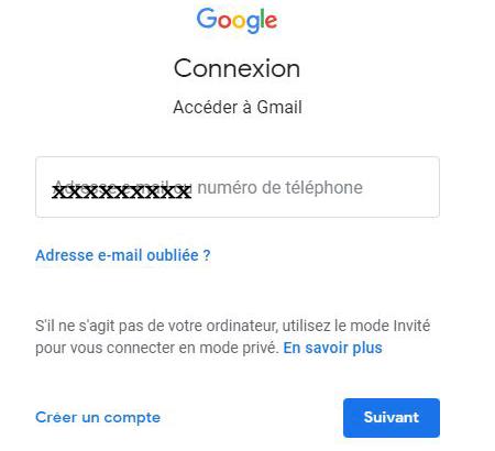 mon gmail messagerie connexion