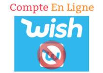 Supprimer un compte wish