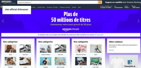 www.amazon.fr : adresse du site américain Amazon