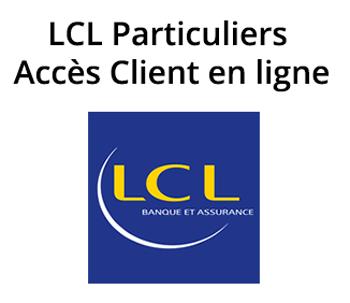 accès mon compte en ligne LCL Particuliers en ligne