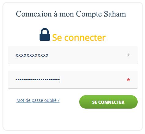 se connecter à mon compte client Saham