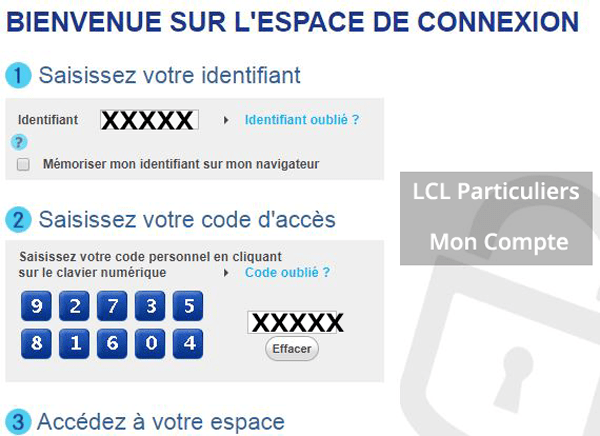consulter mon compte LCL Particuliers Secure