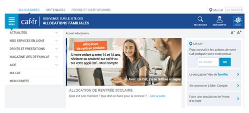 Caf.fr mon compte déclaration trimestrielle