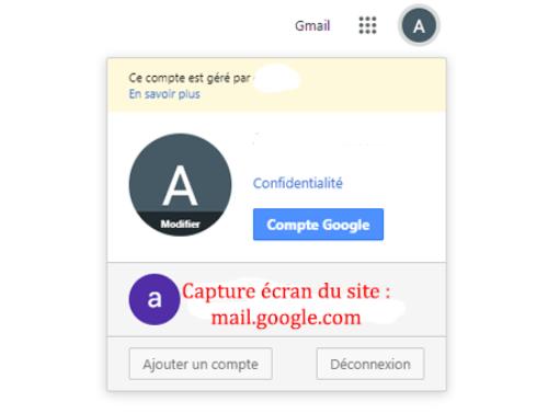 Se déconnecter de Gmail