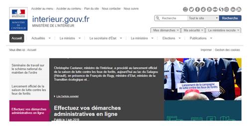 Consulter le site interieur.gouv.fr