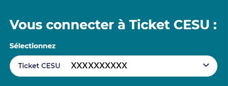 Ticket CESU Edenred connexion