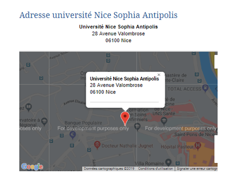 Université nice sophia antipolis contact