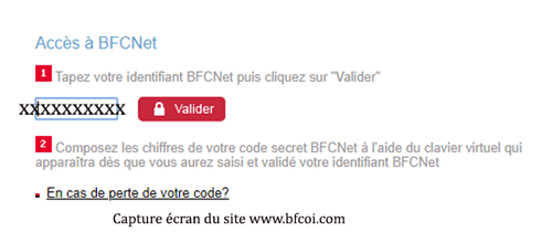 Consulter mon compte bfcoi online