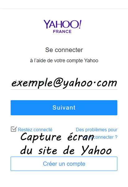 créer un compte Yahoo Mail