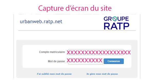 Se connecter heimdall.ratp.net