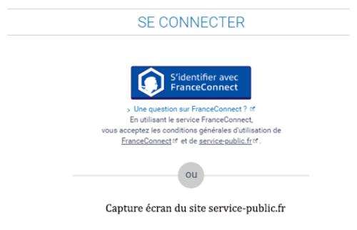 Se connecter via france connect