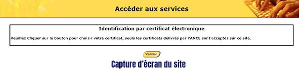 identification compte postal par certificat electronique