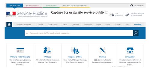 Consulter le site www.service-public.fr