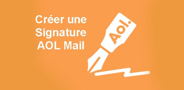créer une signature aol mail