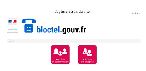 Consulter le site www.bloctel.gouv.fr mon compte