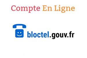 Inscription sur bloctel.gouv.fr mon compte