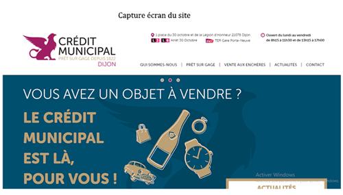 Creditmunicipal-dijon.fr accès compte