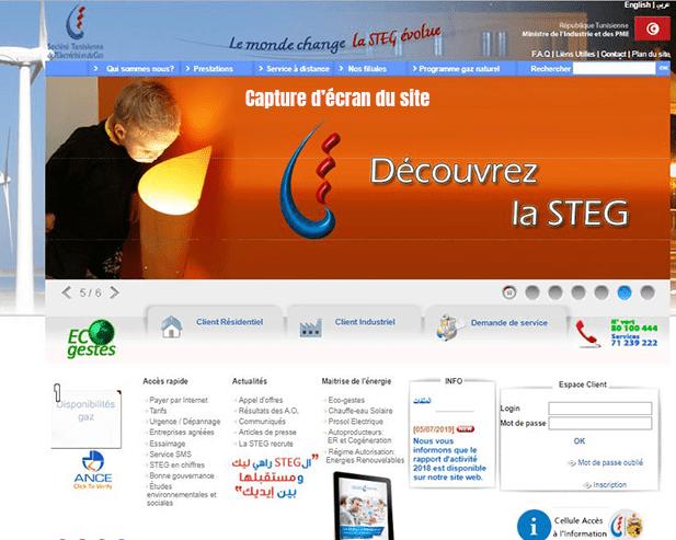 portail-web-de-la-societe-Tunisienne-d'electricite-et-de-gaz