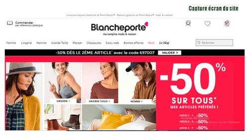 blancheporte.fr suivi commande