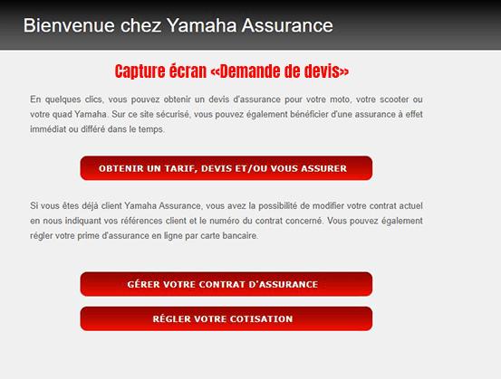 devis en ligne yamaha assurance