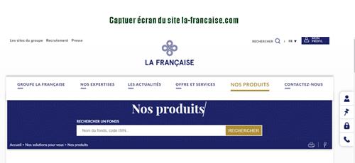 Consulter le site la-francaise.com