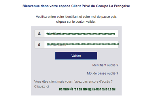 Se connecter au cpmpte client la française