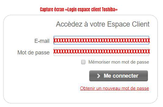 login espace client toshiba