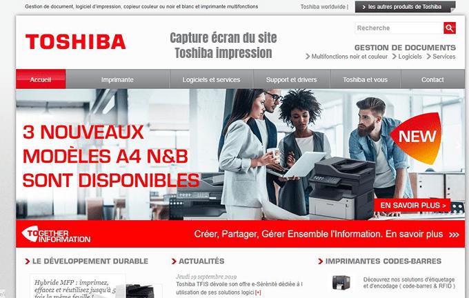 services impression toshiba