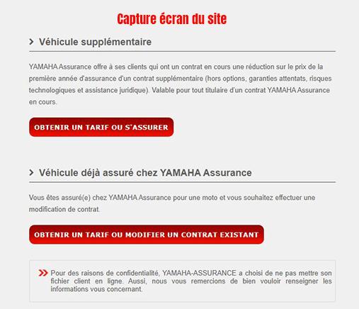 souscription nouveau contrat assurance yamaha