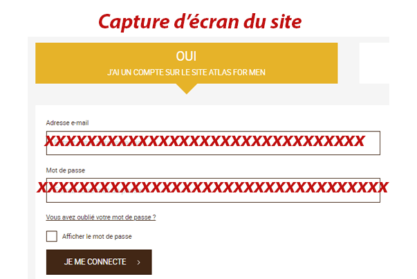 Connexion sur secure.atlasformen.fr/login