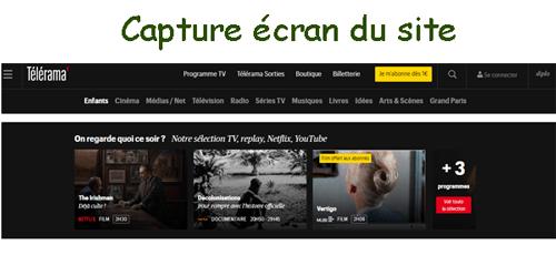 Consulter le site www.telerama.fr services