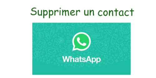 comment supprimer un contact whatsapp