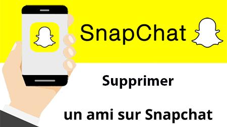Snapchat supprimer ami